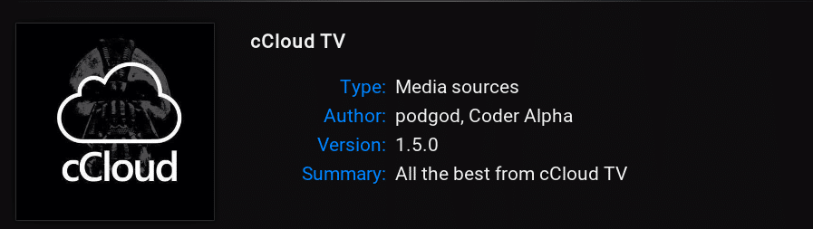 cCloud Best Kodi Movie Addon 4K HD 3D Addon