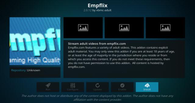 empflix adult kodi addon